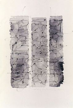Gestural calligraphy by Kitty Sabatier