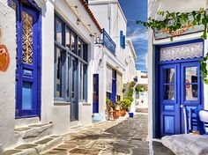 Kythnos is one of the western Cyclades Islands situated between Kea and Serifos. Kythnos has more than 70 beaches… Places In Greece, Greece Islands, Facade Architecture, Street Photo, Greece Travel, Touring, Travel Photos, Places To Go, Around The Worlds