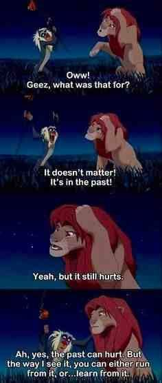 You can't move into your future holding on to your past! Let go of your past