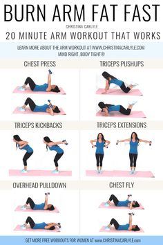 Quick & Easy Workout With Weights for Tight Toned Arms - Dumbbell - Ideas of Dum. - Quick & Easy Workout With Weights for Tight Toned Arms – Dumbbell – Ideas of Dumbbell - Pilates Workout Routine, Workout Plans, Cardio Pilates, Ab Routine, Kickboxing Workout, Workout Regimen, Workout Ideas, Do Exercise, Excercise
