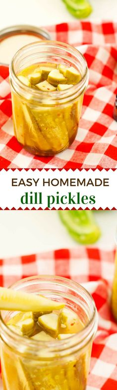 Homemade Dill Pickles via @wendypolisi
