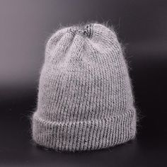 LUNA & TERRA - Cashmere Wool Fall Winter Warm Knit Ski Hat Beanie for Women