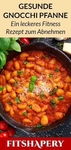 This gnocchi pan is healthy, tasty and easy to make. Here you can find u . - Gesunde Fitness Rezepte - This gnocchi pan is healthy, tasty and easy to make. Here you will find our quick fitness recipe, w - Healthy Snacks, Healthy Recipes, Diy Snacks, Quick Recipes, Carne Picada, Eating Plans, Feta, Meal Planning, Natural