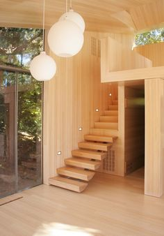 Professionals in staircase design, construction and stairs installation. In addition EeStairs offers design services on stairs and balustrades. Timber Staircase, Staircase Landing, Wooden Stairs, Modern Staircase, Staircase Design, Railing Design, Wood Pendant Light, Pendant Lights, Flooring For Stairs
