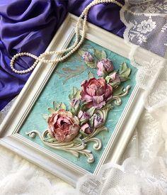 Доброе утро! Как и обещала)), фон фиолетовый, все, другого цвета шелка нет, поэтому заканчиваю играться с картиной и завтра покажу Вам новые часы с розами и без......!Всем хорошего дня и прекрасного настроения!!!!#скульптурнаяживопись#декоративнаяштукатурка #объемнаяживопись #обьемнаякартина #обьемнаяживопись #панно #картина #диво #живопись #барельеф #мкскульптурнаяживопись #мкдекор #прованс #шеббишик #provance #shabbychic #decoration