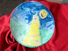 Princeznu na vlásku malovala temperou Magdalenka