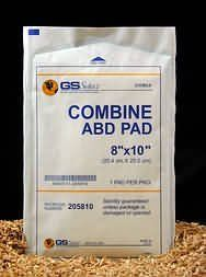 "100 Abdominal Combine Pads/ABD Pad 5"" x 9"" Wound Care by AMS. $28.98. 100 Sterile 5"" x 9"" ABD Pads. Individually Sealed Packages. 5 Boxes of 20 Pads. * Size 5"" x 9"" * Sterile * Multilayered, absorbent cotton, eliminates need for multiple dressings * For use as a primary or secondary dressing * Non-woven facing Please note: Although the picture shows 8"" x 10"" ABD pads, you will receive the 5"" x 9"" pads described above.. Save 42%!"