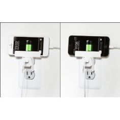 The pi Mount for iPhone is a clever little bit of plastic that is designed to keep your iPhone or iPod off the counter or floor while charging. It clips on to the top of Apple's small USb wall charger, creating a shelf for your device to rest on, keeping it safe from spills and other accidents.