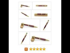 Hand Turned Antique Brass Skull and Bones Twist Pen featuring Purpleheart, handcrafted wooden pen, handmade exotic wood pen, 5th anniversary #Home #Living #Office https://www.etsy.com/BoardArtistry/listing/590398283/hand-turned-antique-brass-skull-and