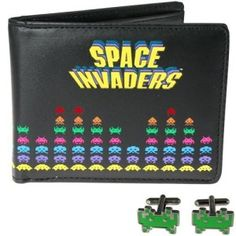 There's old-school, then there's Space Invaders! Honour the retro game with our official Space Invaders clothing. ⭐ Free UK Delivery & Same Day Dispatch Space Invaders, Les Aliens, Retro Arcade Games, Cufflink Set, Billfold Wallet, Retro Christmas, Christmas 2015, Christmas Gifts, Birthday Fun