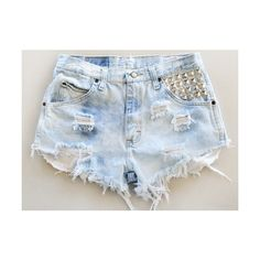 Send us your shorts and we turn them into Tumblr hipster shorts... ($16) ❤ liked on Polyvore