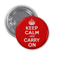 Red Keep Calm and Carry On Buttons