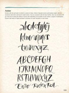 brush letters