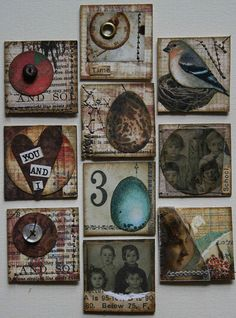 For the birds!  SCR.B. PAPERS INTO TILES FOR MINIS  (FOR MY 7 GYPSIES 8X8 P.S MINI, ADD ''TILES'' 1X1 &2X2 PLUS...)  *WATCH ''NESTING GROUNDS'' JOGG. VIDEO FOR OTHER IDEAS, VERY SIM. P.)