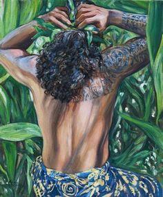 Polynesian Art, Polynesian Culture, Tahitian Dance, Exotic Art, Vintage Hawaiian, Tropical Decor, Retro Art, Art Of Living, Black Is Beautiful