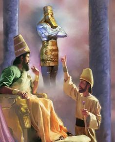 Daniele spiega il sogno della statua al re Nabucodonosor