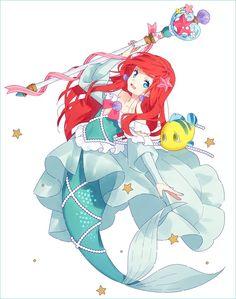 la petite sirène. Cute Disney, Disney Girls, Disney Pixar, Disney And Dreamworks, Disney Fan Art, Disney Cartoons, Disney Magic, Disney Princess Ariel, Princess Art