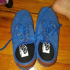 Blue suede vans China vans blue suede never worn! Vans Shoes Sneakers