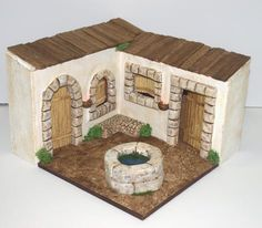 Nativity House, Diy Nativity, Christmas Nativity Scene, Foam Crafts, Diy And Crafts, Arts And Crafts, Christmas Settings, Christmas Decorations, Wood Block Crafts