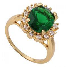 4.22$  Watch here - http://dikeb.justgood.pw/go.php?t=157232201 - Retro Rhinestone Faux Emerald Round Ring