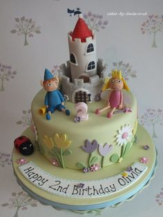 Ben and Holly's Little Kingdom - Cake by Louise Jackson Cake Design Toddler Birthday Cakes, 3rd Birthday Cakes, Happy 2nd Birthday, Birthday Ideas, Ben And Holly Cake, Ben E Holly, Pretty Cakes, Beautiful Cakes, Amazing Cakes