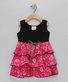 e5308c222d2f Country Baby Black   Red Hanky Panky Rodeo Ruffle Dress - Toddler