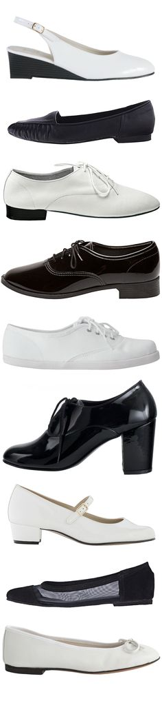 Black & White shoes by #AmericanApparel #shoes