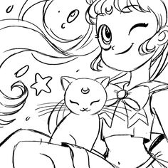 Just a little GIF showing the process for a Sailor Moon Piece. More on my tumblr
