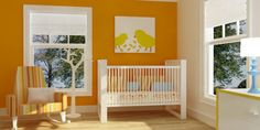 Kids room with bright colors