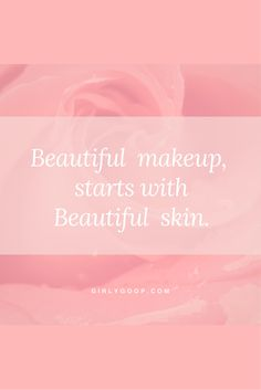 Step one: take care of that beautiful skin of yours! Beyond Beauty, Project Yourself, Take Care, Your Skin, Girly, Makeup, Beautiful, Lady Like, Make Up