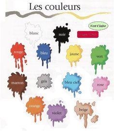 41 meilleures images du tableau FLE Lexique des couleurs ...