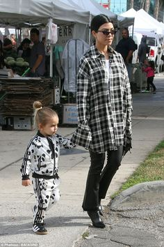 Devoted to her kids: Kourtney Kardashian stepped out with her youngest, son Reign Aston Di...