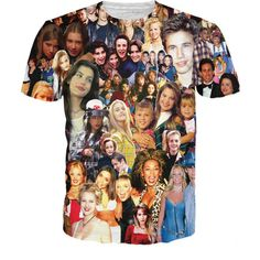 90s Stars Paparazzi T-Shirt ($25) ❤ liked on Polyvore featuring tops, t-shirts, evening tops, special occasion tops, holiday tops, holiday t shirts and star print top