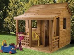kids play house // i wonder if I could buy one of those for myself and put it on someone's property.