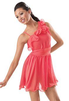 Asymmetical Ruffle Dress -Weissman Costumes