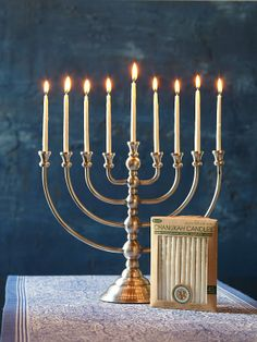 Light the Chanukiah, Candelabra associated with Chanukah (it is not menorah, majority of people get it wrong) Hanukkah Menorah, Happy Hanukkah, Hannukah, Menorah Candles, Candle Lamp, Festival Lights, Organization Hacks, Candle Holders, Table Settings