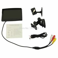 5 Inch Car TFT Car Color Rear View Monitor Parking Backup Camera DVD + 2 Bracket For DVD/ VCD/ Camera
