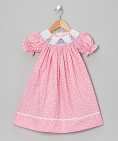Take a look at this Pink Princess Bishop Dress - Infant, Toddler & Girls by Candyland on #zulily today!