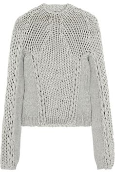 Chunky-knit cotton-blend sweater by Alexander Wang