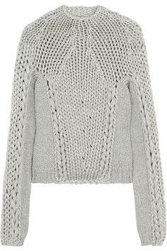 Alexander Wang|Chunky-knit cotton-blend sweater|NET-A-PORTER.COM