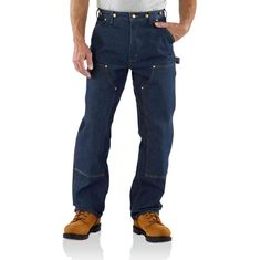 RELAXED-FIT DOUBLE-FRONT WASHED LOGGER MEN'S 36x30
