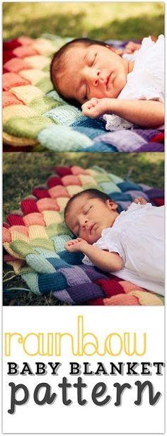 Rainbow Baby Blanket Knitting Pattern