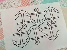 Bilderesultat for Anchor Cotton Fabric, Black and White, by the yard, Boat, Flag, Navy fabric.