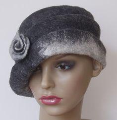 Felt by Bridget: Felted Hats - Gallery Cloche Hat, Felt Hat, Headdress, Anklets, Fall Winter, Wool Felting, Crowns, Upcycle, Barbie