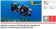 Atrévete a conocer el Fondo Marino: Bautizo de Buceo o 2 Inmersiones en Cabo de Gata