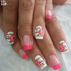 Flowers Nail Art 100+ New Idea for Spring 2018, You can choose your nail style in floral , Cherry floral nail style, Purple flower nail design, Mixed pattern floral style, French floral style, liliaceous plant floral nail style, Cool flower nail style, Pastel floral nail design, Tropical floral nail style,matte Peach floral style, good matte floral style, Stripes floral style