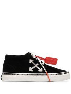 Off-White Skate Sneakers - Farfetch Streetwear Brands, Streetwear Fashion, Off White Mens, White Sneakers, White Shoes, Running Sneakers, Black Cotton, Trainers, Street Wear