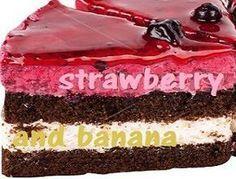 Τούρτα φράουλα - μπανάνα