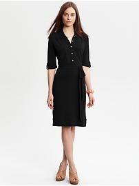 Black shirt dress for work.