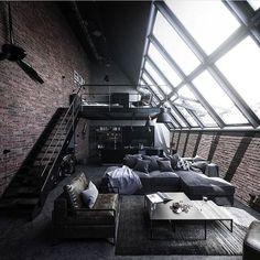 Design Loft, Home Room Design, Dream Home Design, Modern House Design, Home Interior Design, Modern Interior, Modern Architecture House, Interior Architecture, Amazing Architecture
